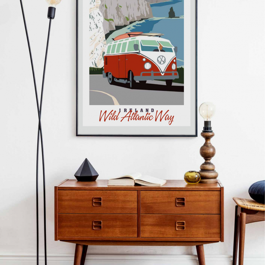retro poster Wild Atlantic Way