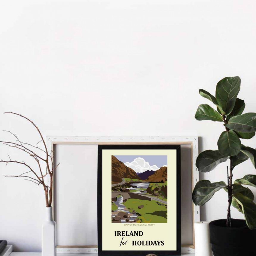 Ireland for Holidays! retro style poster