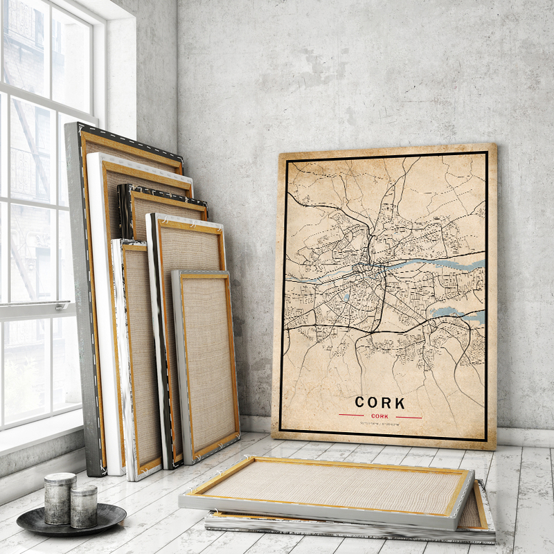 Vintage map of Cork